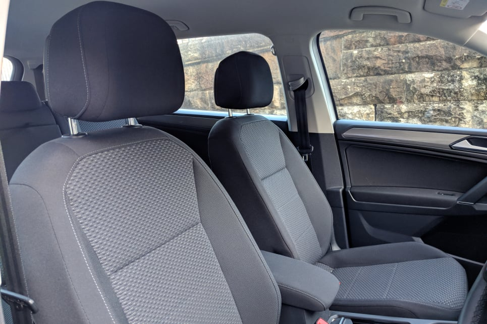 The front seats look less than premium, and they lack the comfort and support expected of a car at this price point.