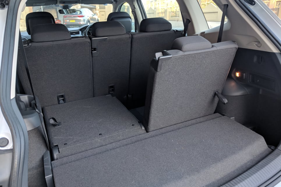 With the second row up and third row down, the Tiguan's boot capacity sits at 700 litres.