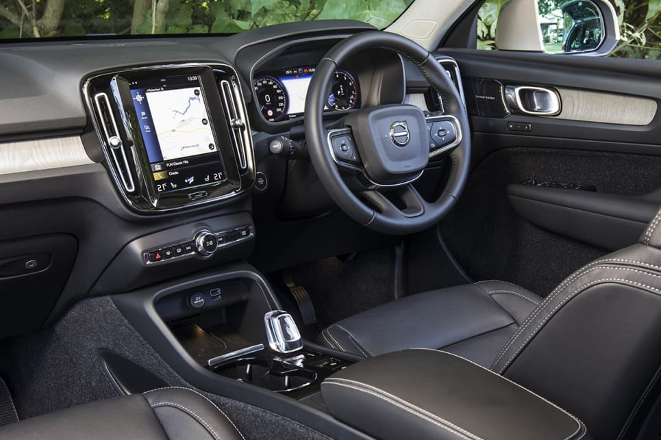 Ours XC40 is the middle-of-the-range T4 Inscription, which has a list price $50,990.
