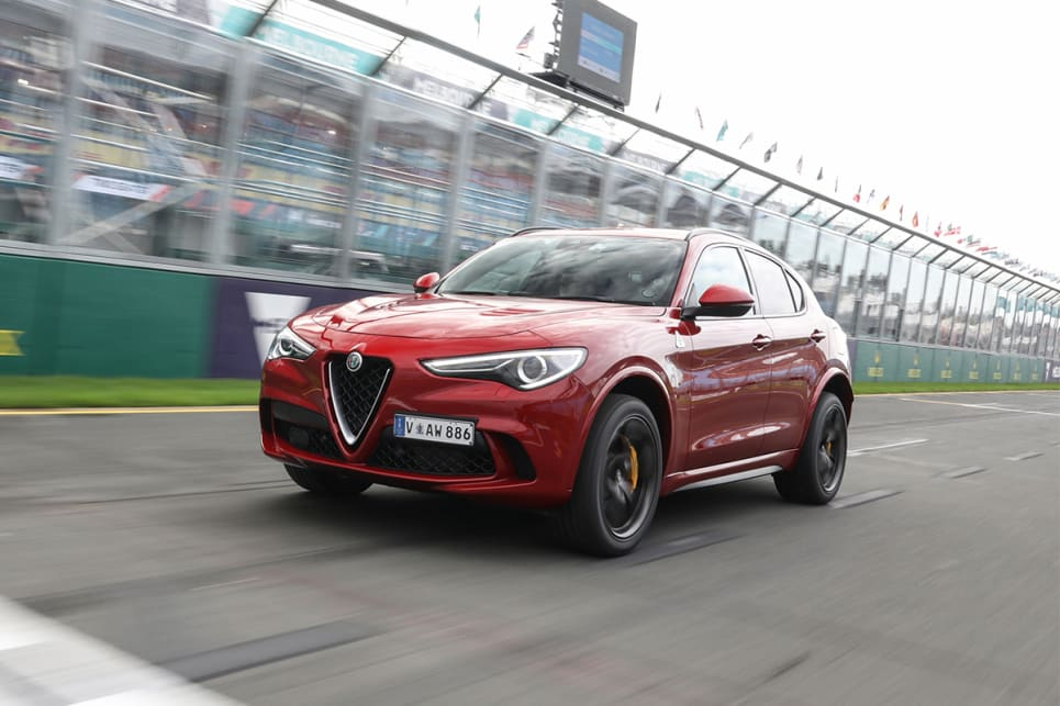 We saw an easy 210km/h down pit straight, but Alfa reckons it'll do 283 with enough road.