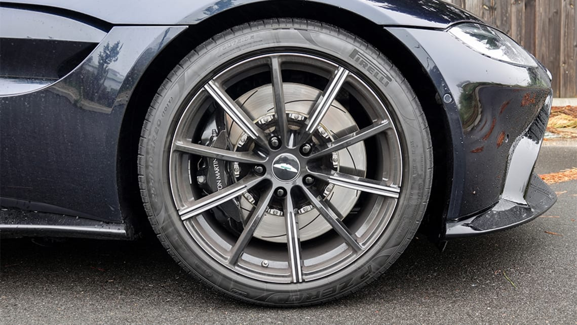 The 20-inch forged alloys wheels are finished in Gloss black.