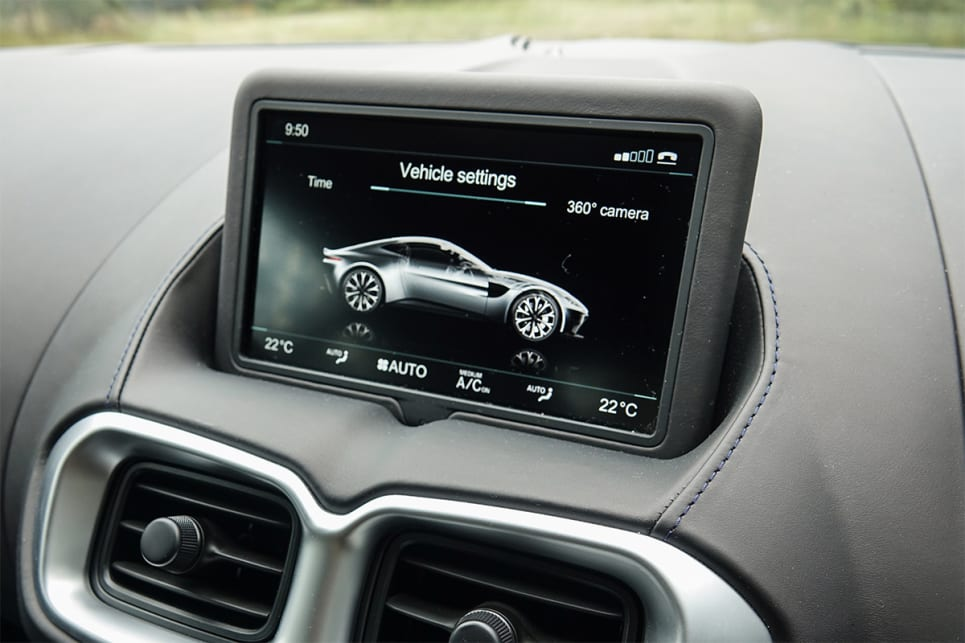 Sitting atop of the dash is a 8.0-inch multimedia screen.