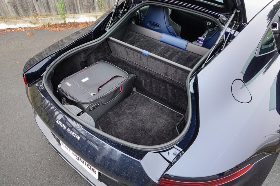 Boot space is rated at 350-litres, enough for a weekend away.