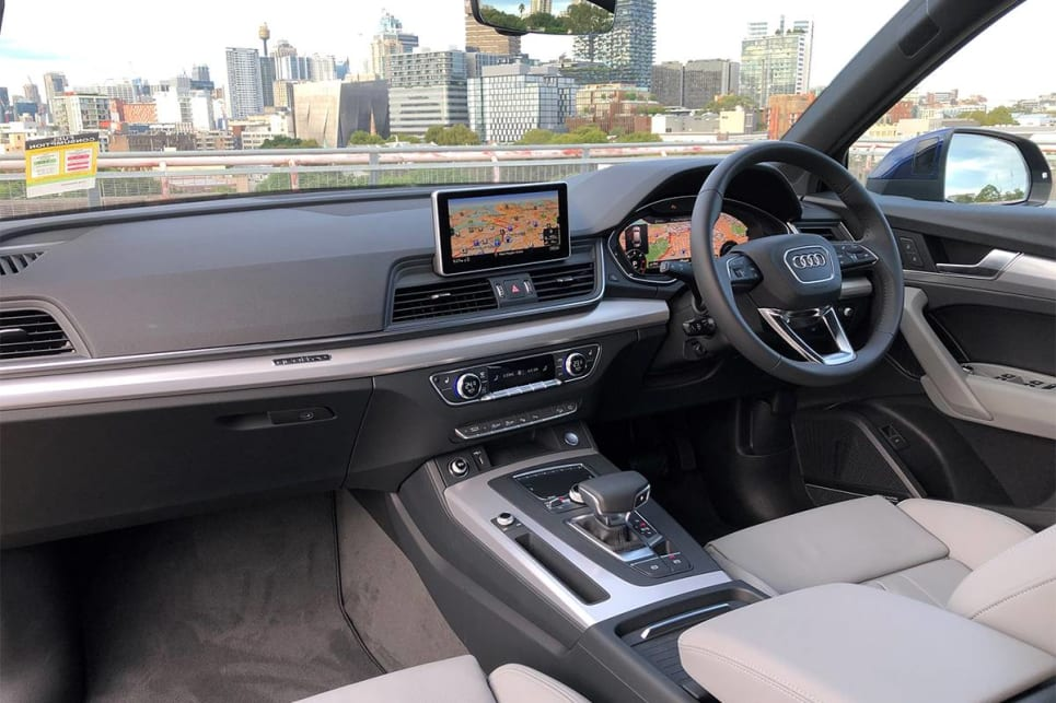 Inside, there's a 8.3-inch media screen that controls sat nav Apple CarPlay and Android Auto.