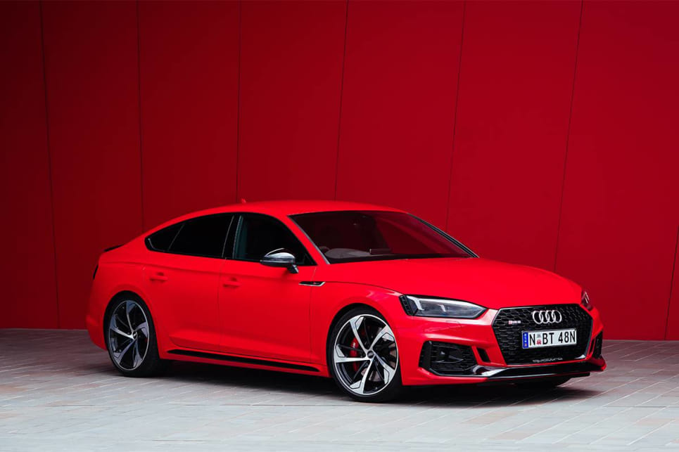 From the B-pillar forward, the RS 5 Sportback is identical to the Coupe.