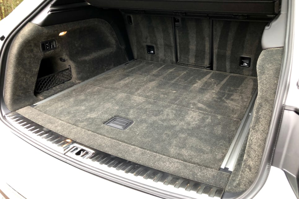 The Bentayga V8's boot with the rear seats in place has a cargo capacity of 484 litres.