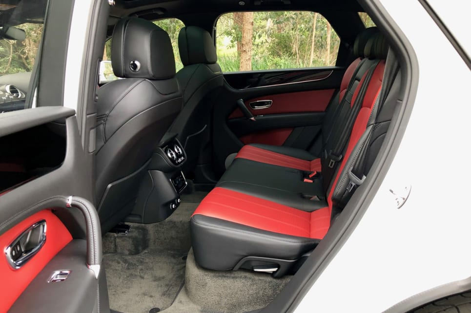 While roomy up front for the driver and co-pilot, the rear seating is not exactly limo-like.