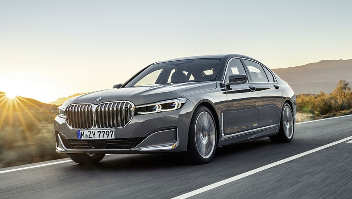The new 7 Series features a super-sized version of the brand's signature 'kidney grille'.