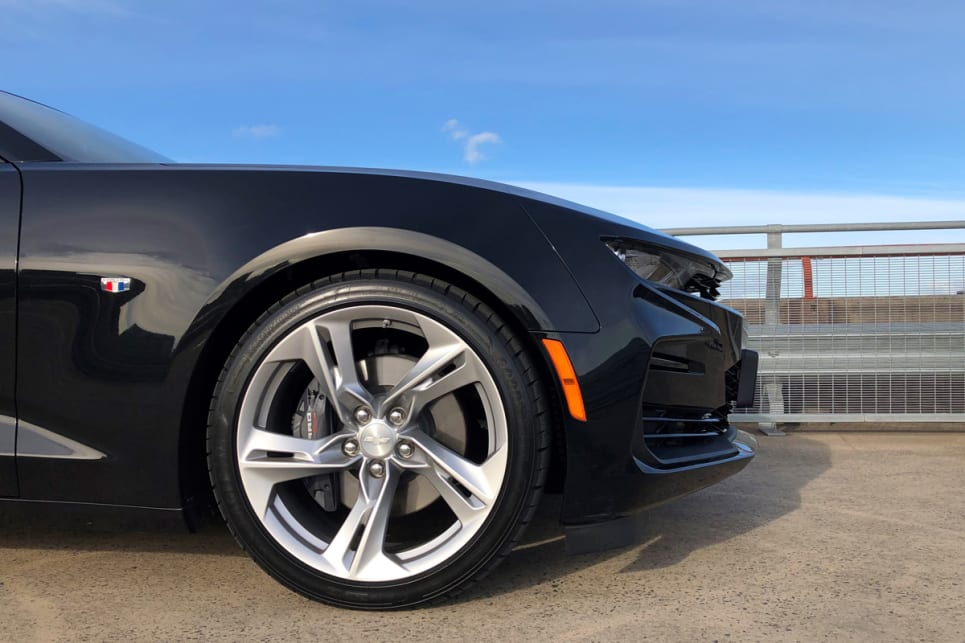 20-inch alloys come standard with the Camaro.