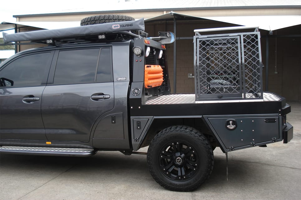 Jesse Engineering, based on the Gold Coast, has developed the K9 TravelSafe dog safety cage for utes. (image credit: Jesse Engineering)