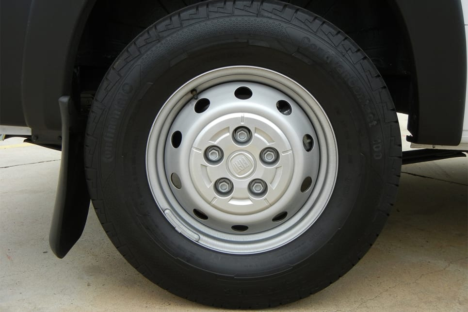 The Ducato is fitted with 16-inch steel wheels.
