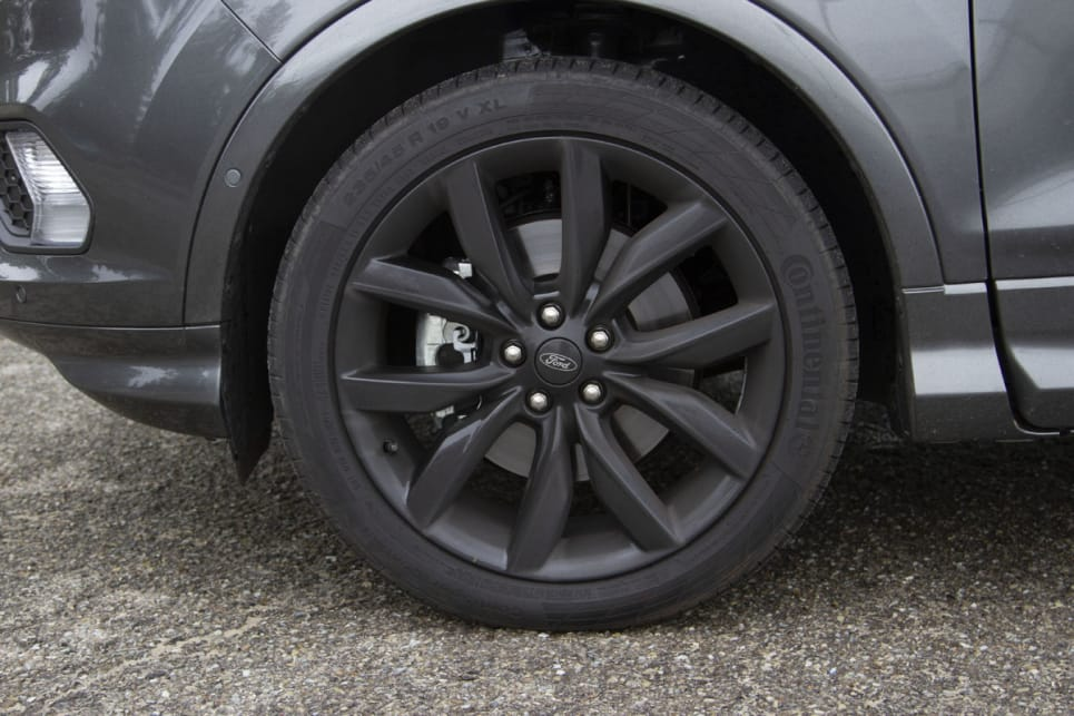 19-inch gunmetal alloys are standard with the ST-Line.