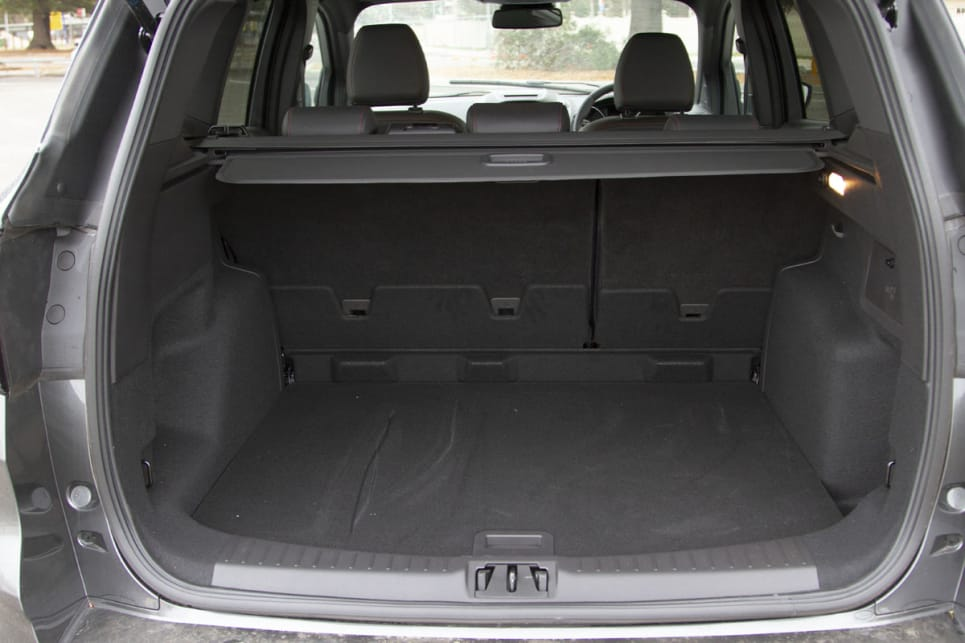 The boot will take 406 litres with the rear seats up.