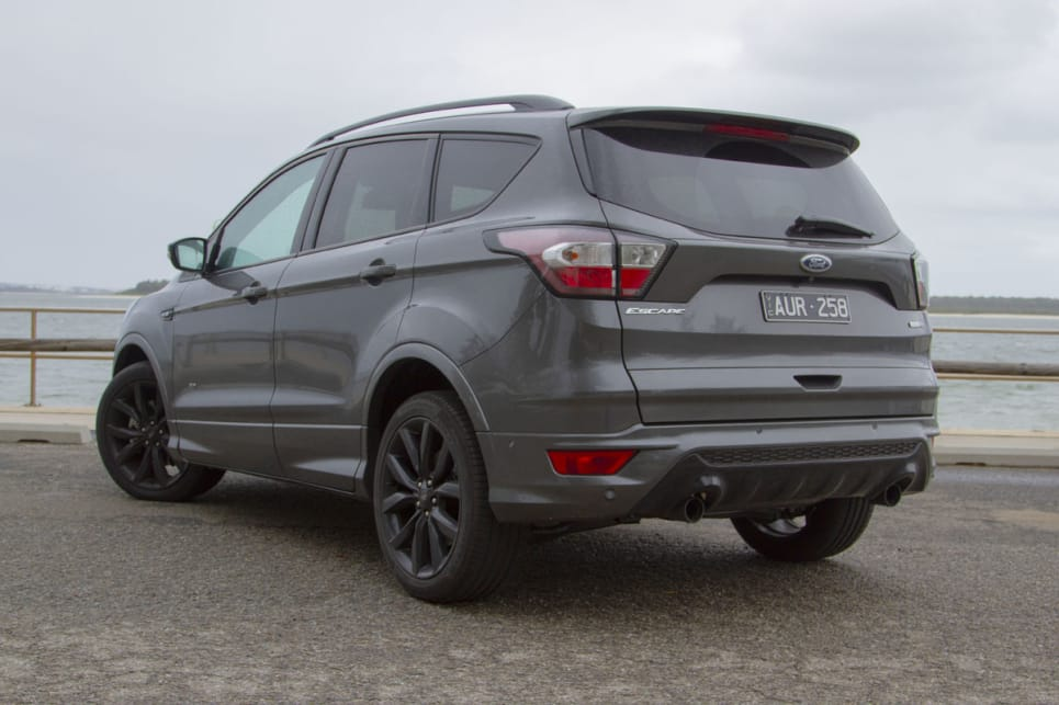 The Escape is readily identifiable as a Ford, echoing the about-to-be-replaced Focus and Fiesta.