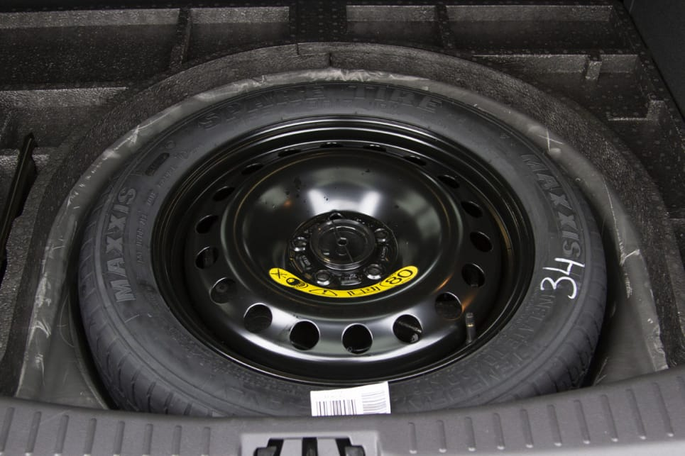 Each ST-Line comes with a space-saver spare tyre.