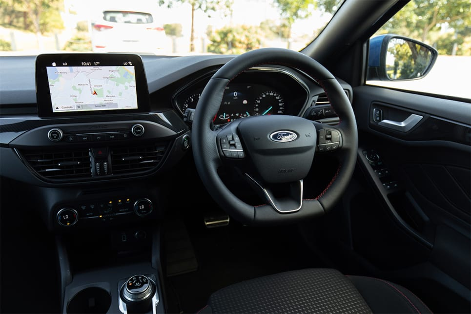 The multimedia screen comes with the latest version of Ford's Sync 3, plus Apple Carplay and Android Auto.