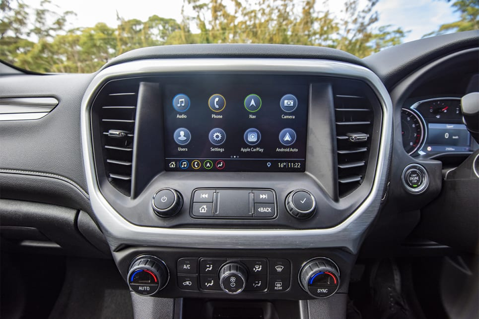 The 8.0-inch touchscreen comes with Apple CarPlay and Android Auto.