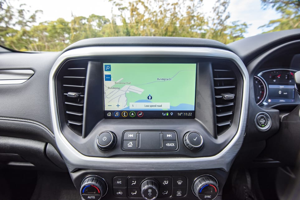 Sat nav is accessible through multimedia system (pictured: Acadia LT).