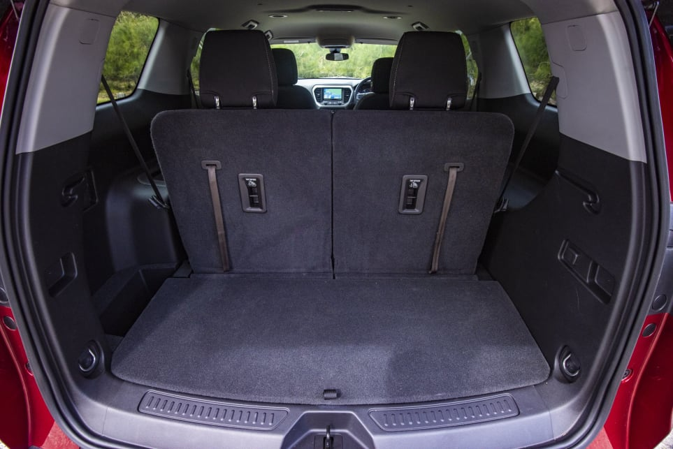 With the third row in place the cargo capacity is 292 litres (pictured: Acadia LT).