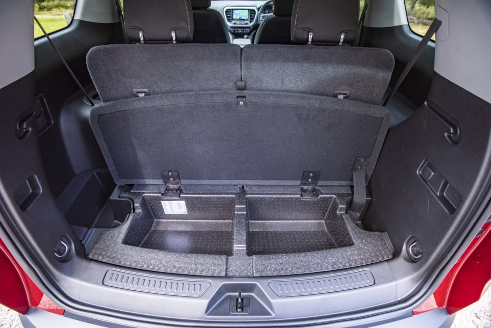 There is a hidden storage compartment under the boot (pictured: Arcadia LT).