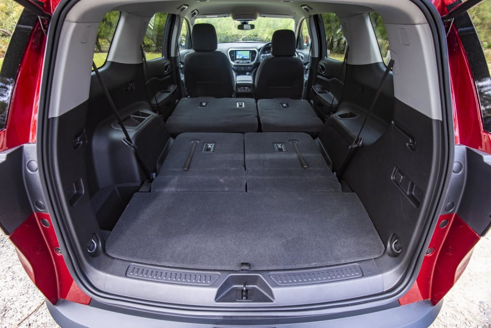 With those rear seats folded flat there's 1042 litres of space (pictured: Arcadia LT).