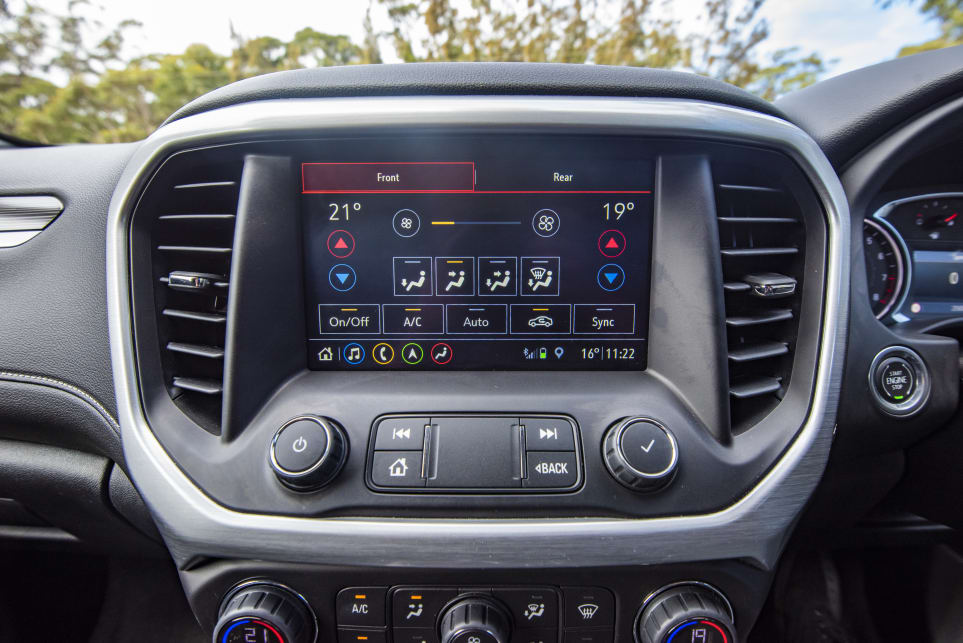 The Acadia features three-zone climate control (pictured: Acadia LT).