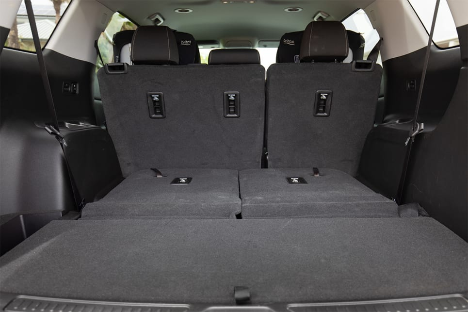 Fold the third row of seats down and the boot grows to 1042L. (image credit: Dean McCartney)