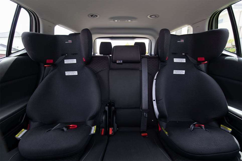 There are five top tether points over the two back rows, and two ISOFIX points for children's car seats. (image credit: Dean McCartney)
