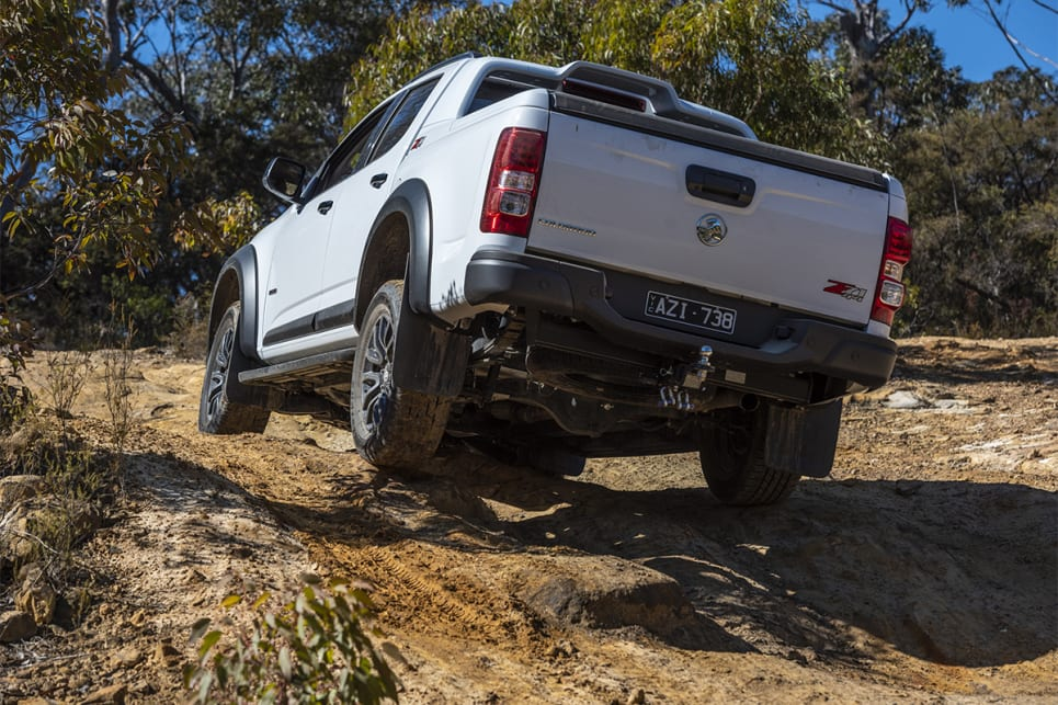We spun tyres a bit at the top of one climb, but overall the Z71's engine and electronics were better than the D-Max's.
