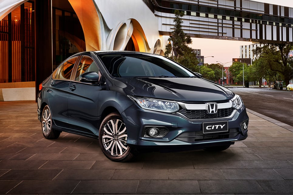 The City adds satellite navigation, push-button start, fog lights, eight-speaker audio and 16-inch alloy wheels.