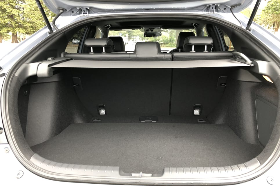 Boot space is rated at 330 litres for the RS model.