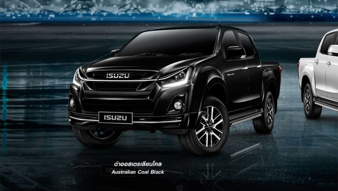 Australian Isuzu models finished in (presumably) the exact same paint are sold under the name Cosmic Black Mica.