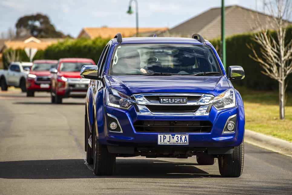 We struggled to find much to like about the D-Max from the driver's seat.