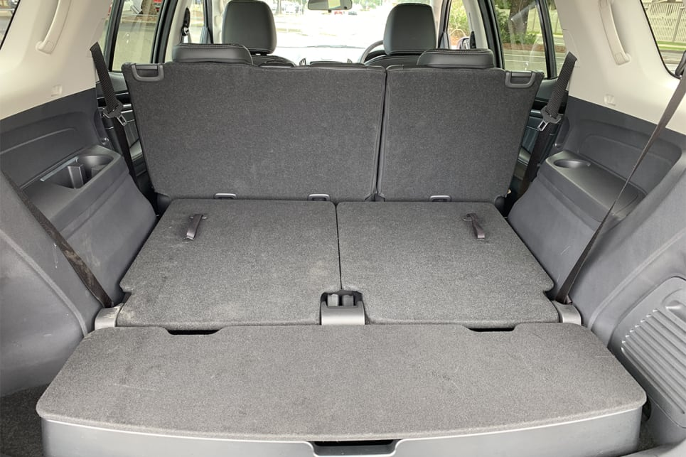 Even with the second row of seats in place, the MU-X offers 878 litres of cargo space.