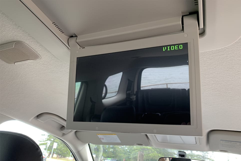 Rear passengers score a entertainment screen with DVD player.