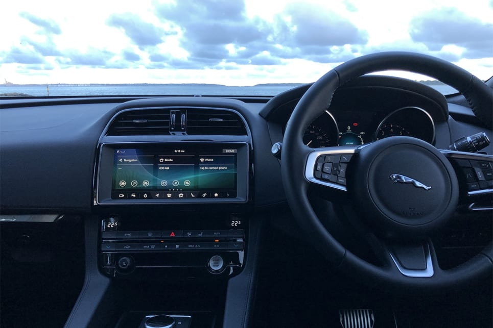The 10.0-inch touchscreen comes with Apple CarPlay and Android Auto.