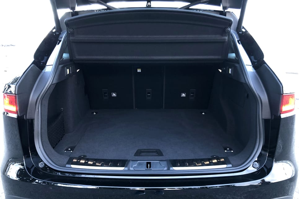 With the rear seats up, there's 508 litres of boot space.