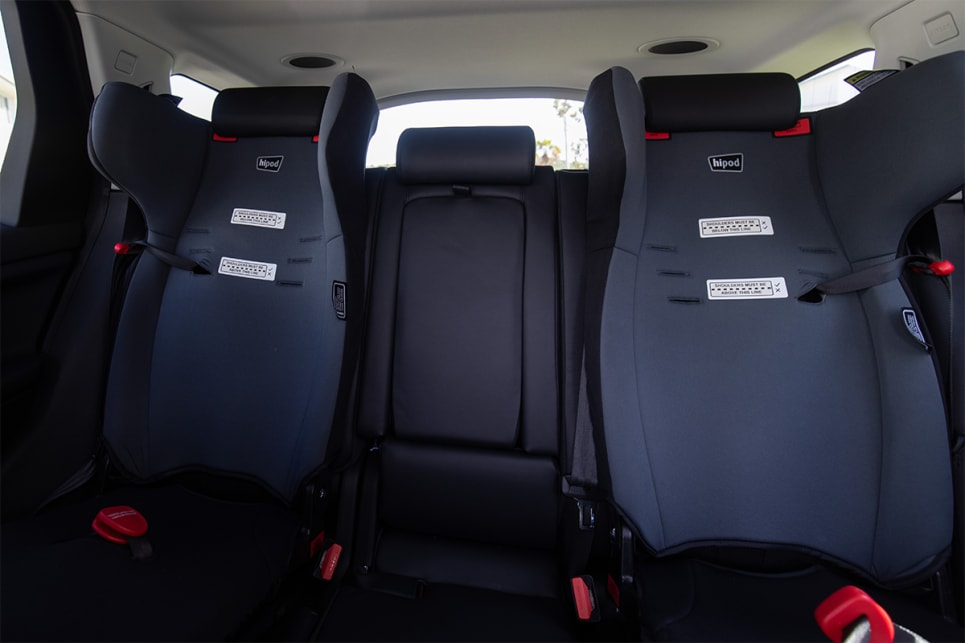 There are ISOFIX points on the outer two rear seats. (image credit: Dean McCartney)