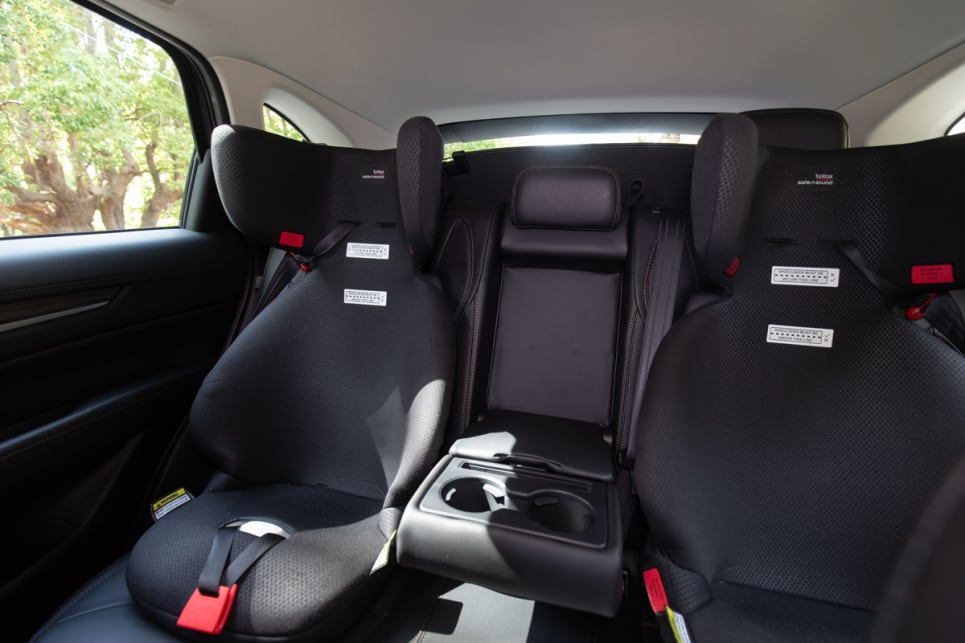 If you needed to, you could also fit a third child seat in the middle. It will be tight but it will fit.