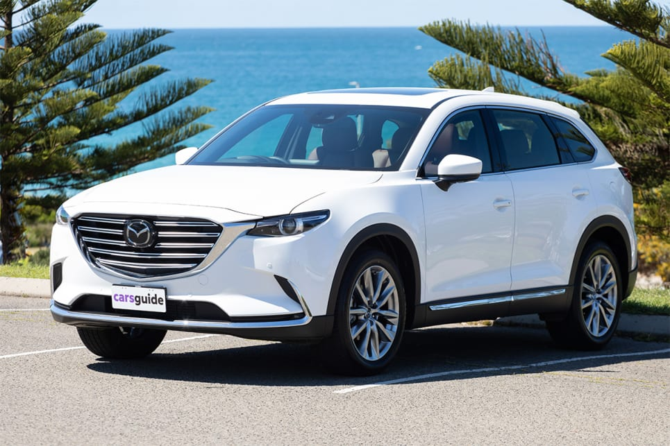 The Mazda CX-9 offers a large and luxurious interior.