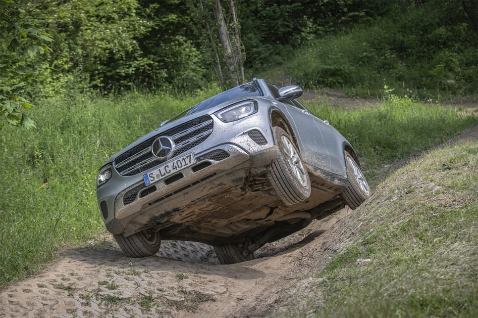 The GLC 300d was surprisingly adept off-road.