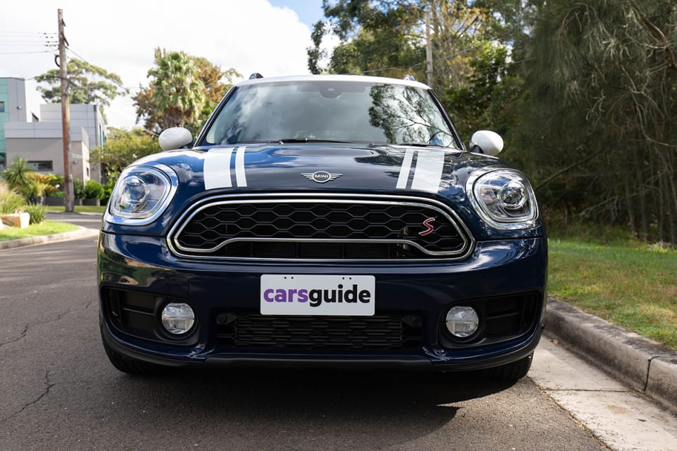 It has all the signature styling of a Mini including the racing stripe.