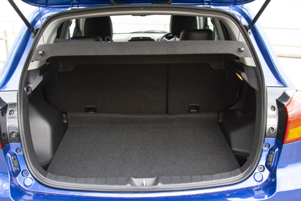 Boot space starts with 393 litres, which is near the top of the class.
