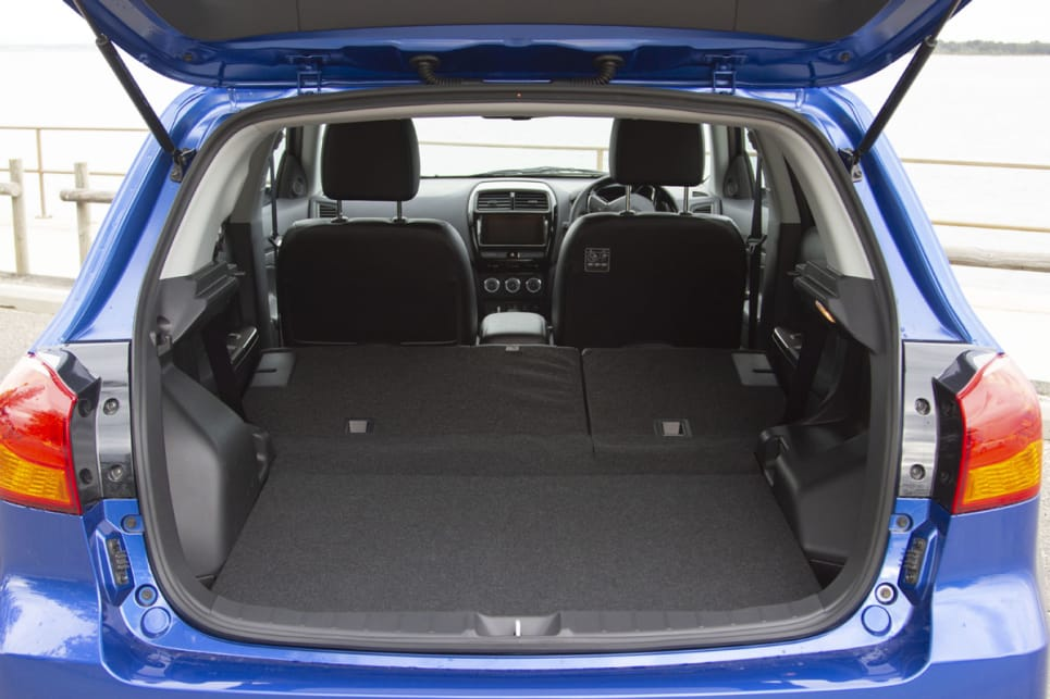 Drop the 60/40 split-fold rear seat and you'll have 1193 litres.