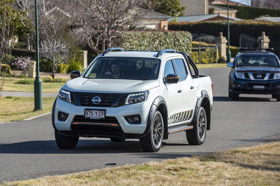 The Navara still has issues with the twin-turbo engine being very noisy at lower speeds.