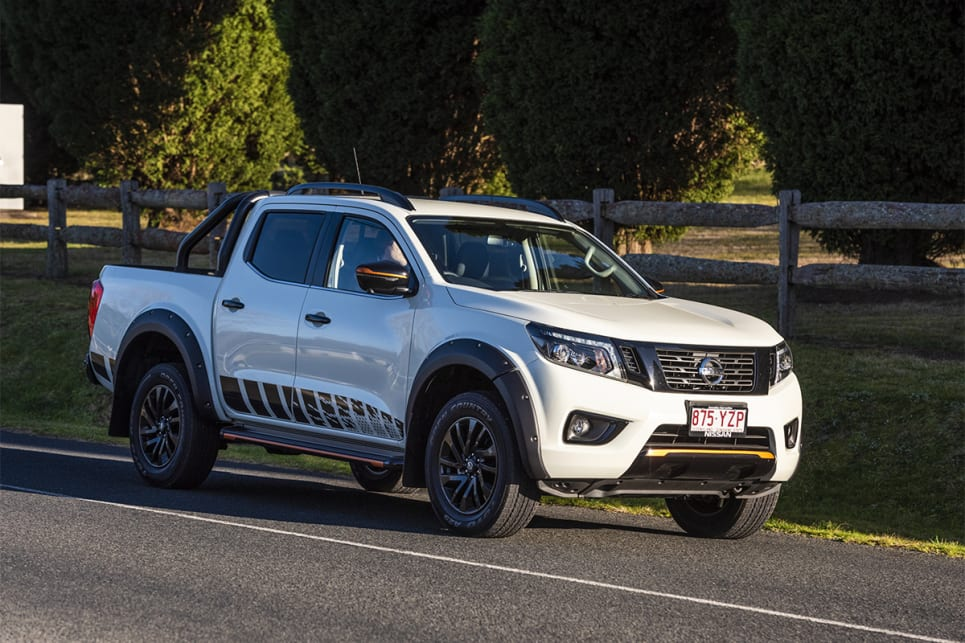 The Navara's twin-turbo engine felt willing, and the fact it's the lightest ute here helps with that.