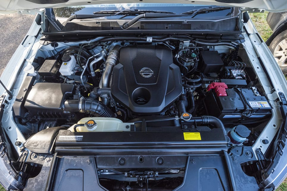 The twin-turbo 2.3-litre engine in the Navara produces 140kW/450Nm.