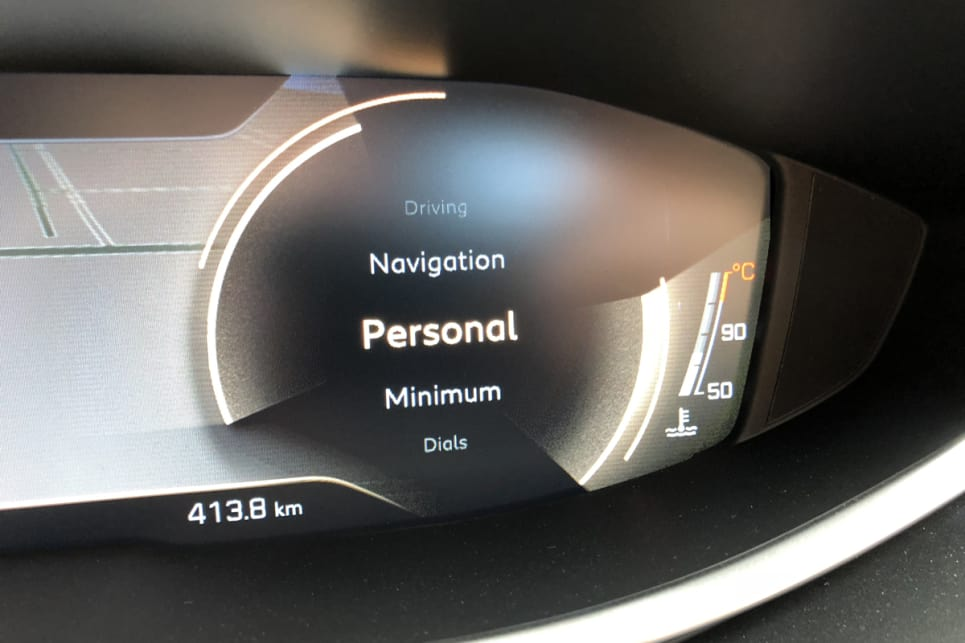You can configure the display in a number of ways - classic two dials, minimalist, more driving information or fill more of the screen with the nav map.