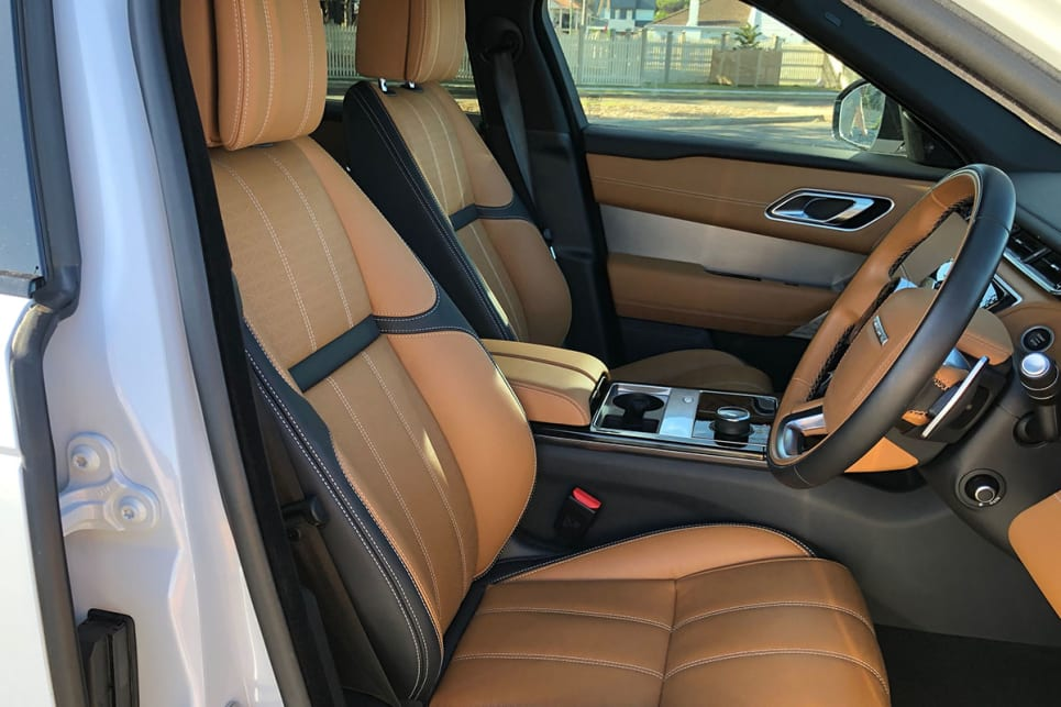 The Velar's cabin is genuinely lovely, with beautiful leather and various optional wood veneers.
