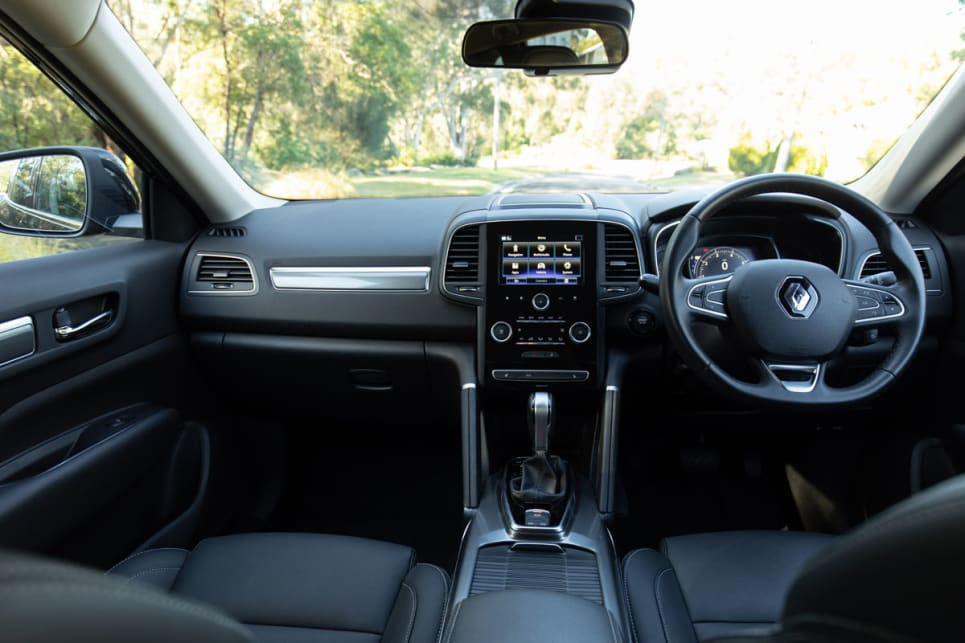 The steering wheel is leather-trimmed and feels good under the hands.